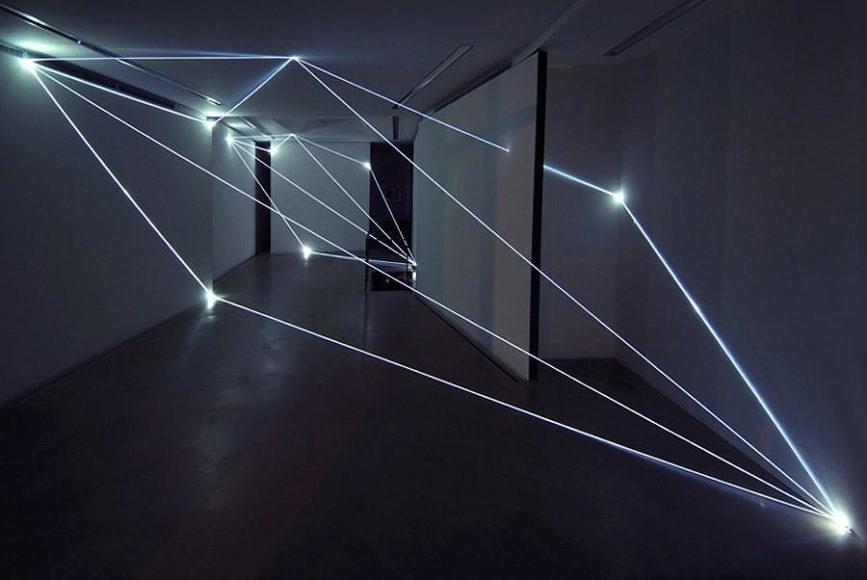 Fiber Optics Art Installations by Carlo Bernardini.