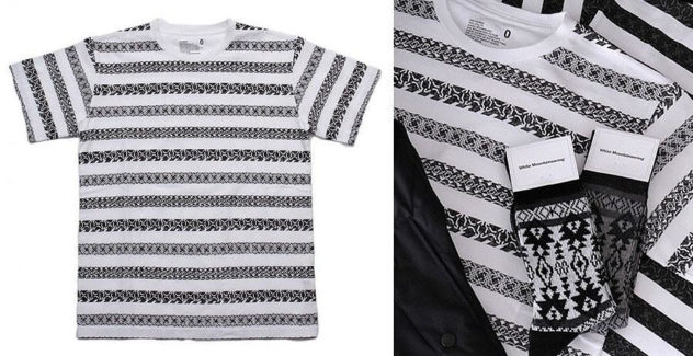 White Mountaineering Jacquard t-shirt