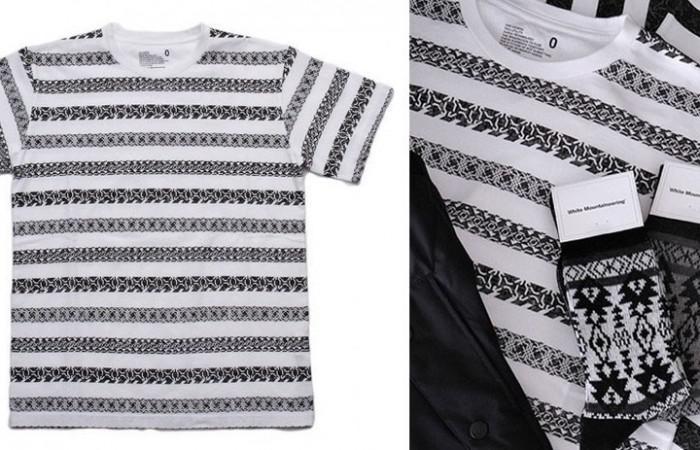 White Mountaineering Jacquard t-shirt