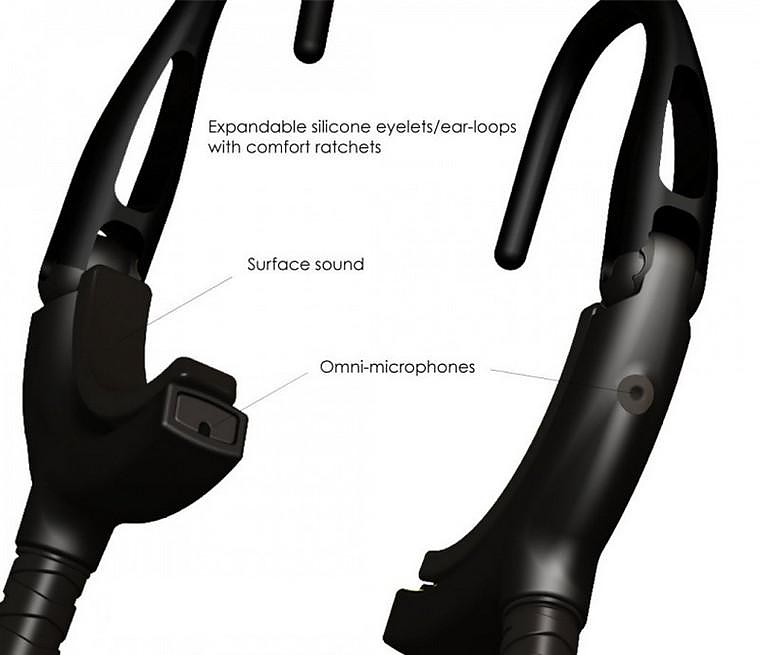 Sound Band Wireless Headset delivers audio without obstructing ambient sound.