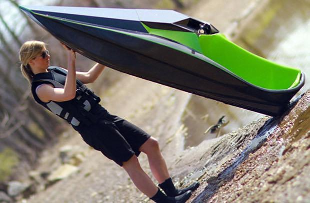Green Samba, an electric carbon fiber Jet ski.