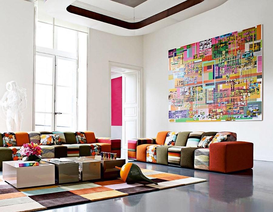 Rythme Sofa by Roche Bobois + Missoni Home.
