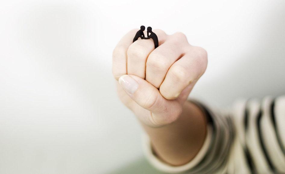 Δαχτυλίδι Two-Gether από την Studio Mango.