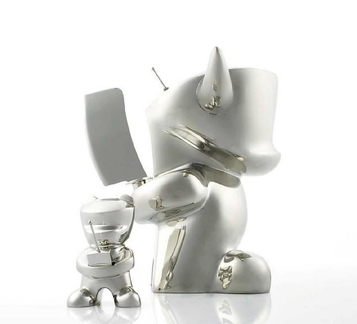 Metal and Porcelain Art Toys by Zeitgeist Toys.