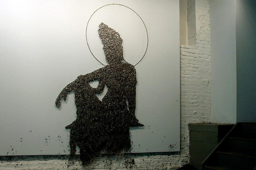 Buttons and Pins Art Installations by Ran Hwang.