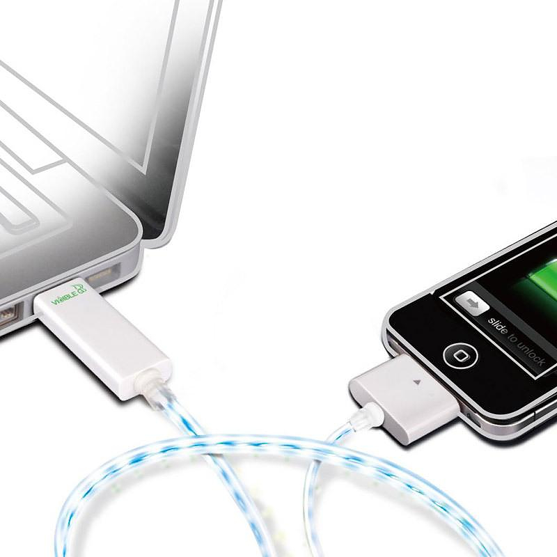 Dexim Visible Green – Illuminated iPhone Charger and Sync Cable.