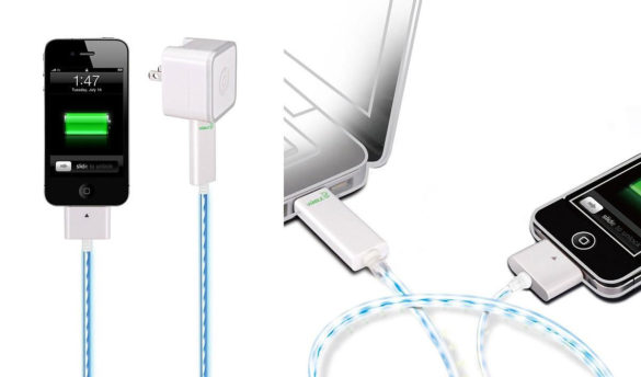 Dexim Visible Green – Illuminated iPhone Charge and Sync Cable.