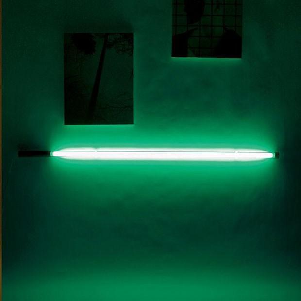 Seletti Fluobar fluorescent neon lamp.