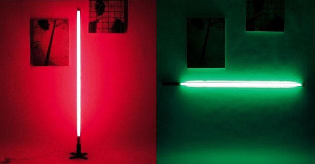 Seletti Fluobar fluorescent neon lamp