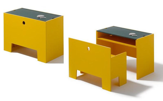 Wonder-Box Table and Bench by Richard Lampert