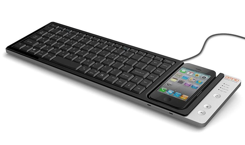 Omnio WOW-keys iPhone keyboard / Charging Dock