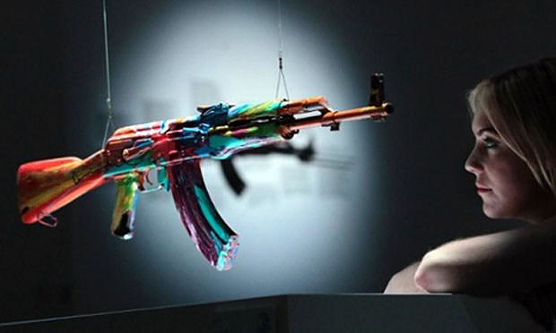 Damien Hirst AK47 Spin, for Peace One Day.