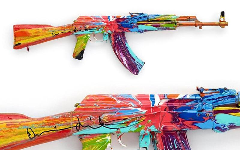 Damien Hirst Spin AK47 for Peace One Day 2012