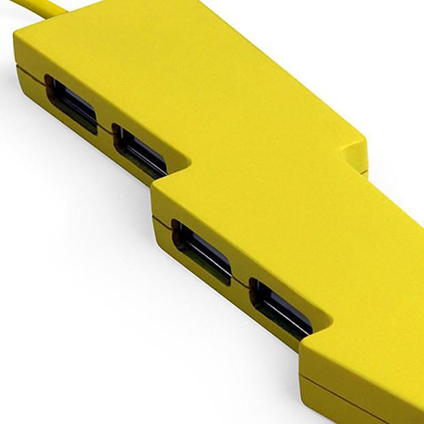 Kikkerland Thunderbolt Power Strip and USB Hub.