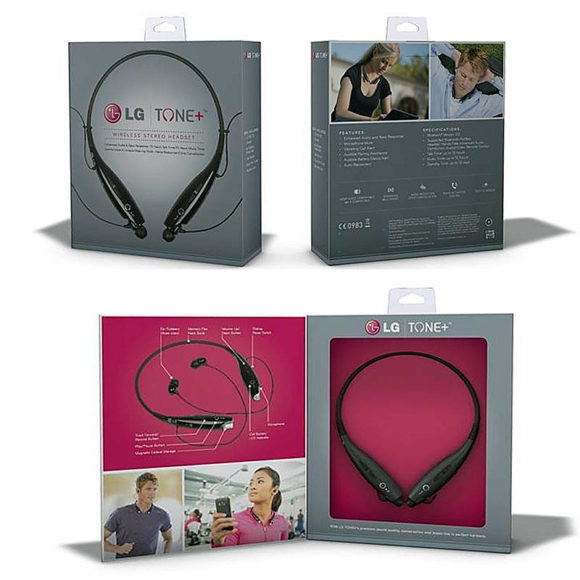 LG TONE+ Bluetooth stereo headset.
