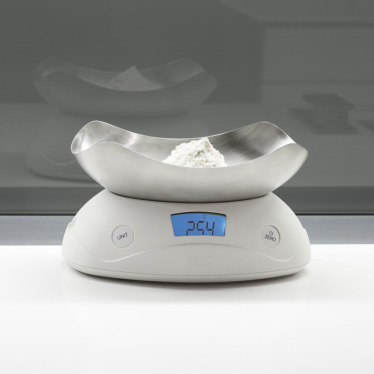 Shell digital kitchen scale by Joseph Joseph.