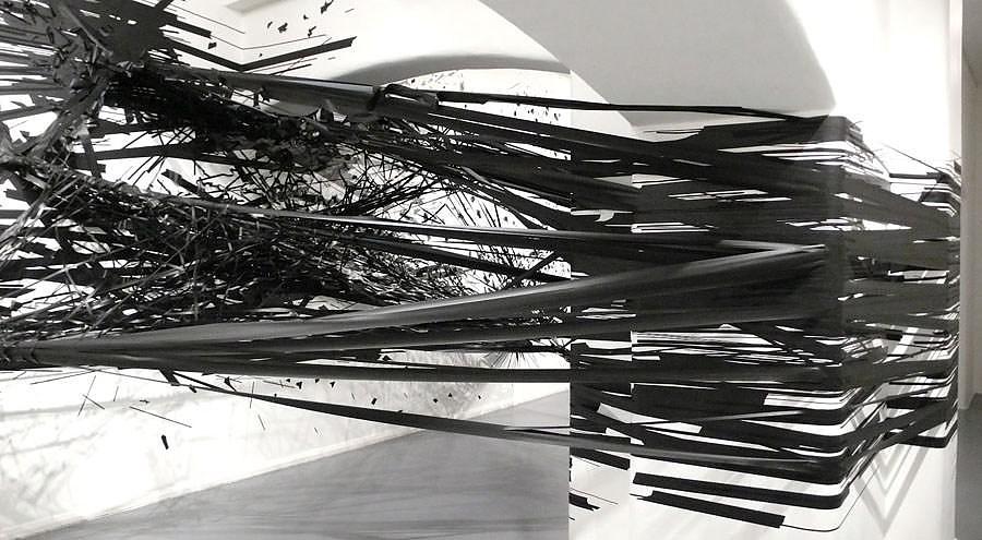 Adhesive tape Art Installations by Monika Grzymala.