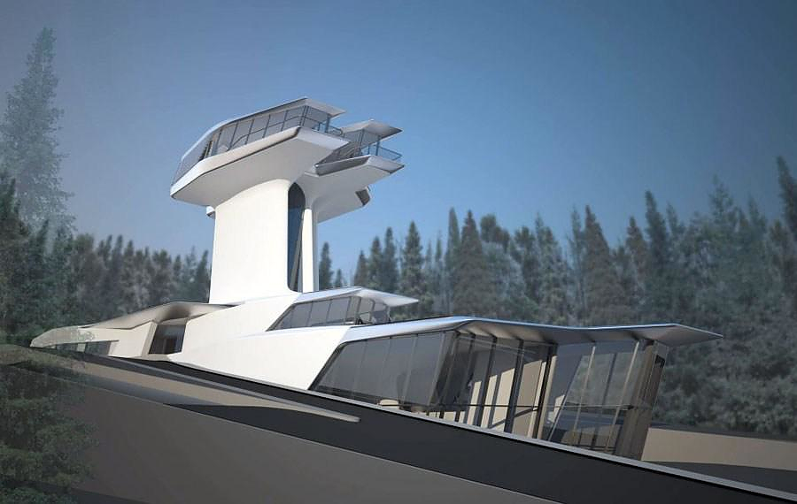 Zaha Hadid designs spaceship house for Naomi Campbell.