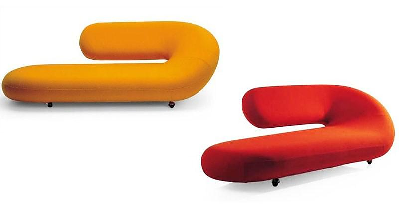 Artifort cleopatra chaise longue by geoffrey harcourt for Artifort chaise longue