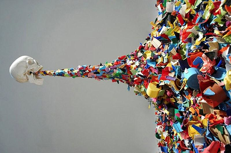 Typoe Confetti Death Art Installation Design Is This