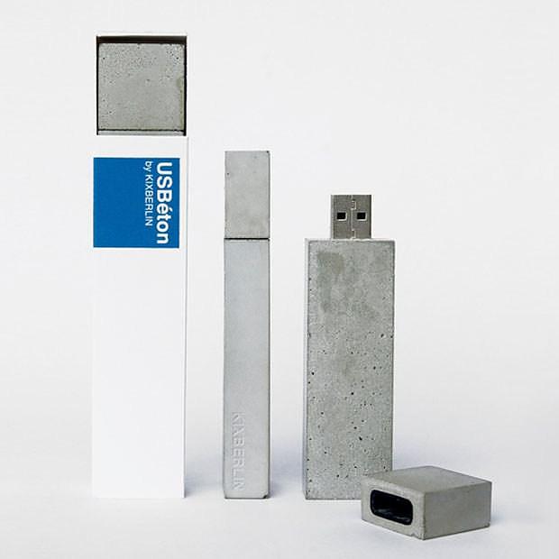 USBéton concrete USB stick by Kix Berlin.