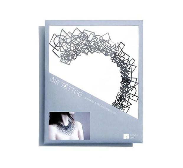 Air Tattoo της Logical Art, μοντέρνα κοσμήματα φτιαγμένα από χαρτί.