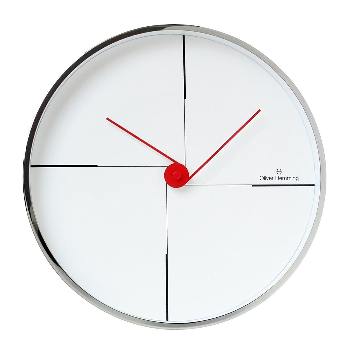 Wall Clock W300s9w By Oliver Hemming Design Is This