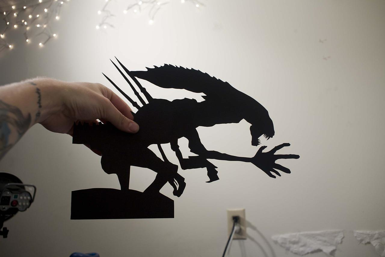 Paper-Cut Action Silhouettes by David A. Reeves.