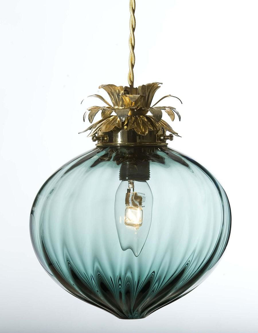 Rothschild & Bickers Hand Blown Glass Lights.