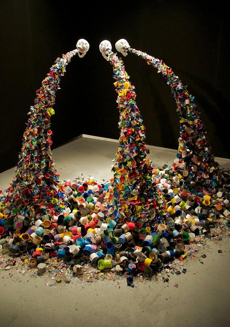 TYPOE Confetti Death Art Installation.
