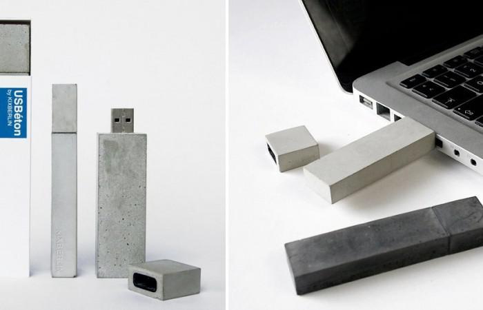 USBeton concrete USB stick by Kix Berlin