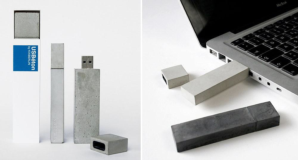 USBeton concrete USB stick by Kix Berlin