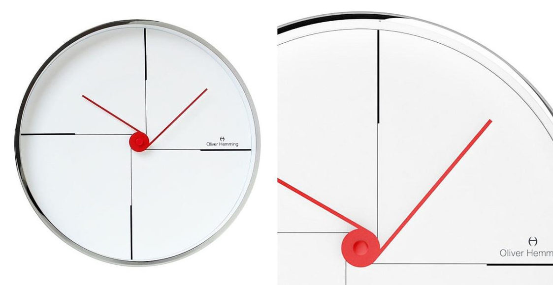 Wall Clock W300S9W by Oliver Hemming.
