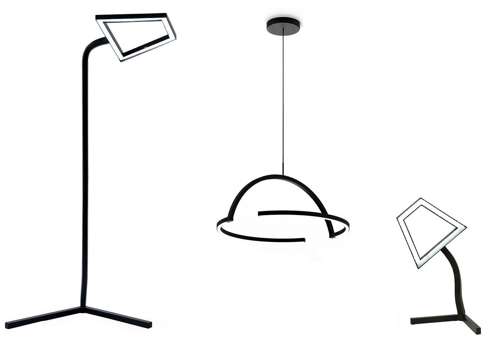 2D LED Lamp by DING300 for Skitsch