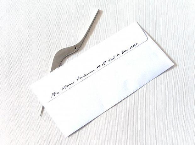 Alessi Uselen Letter Opener by Giulio Iacchetti.