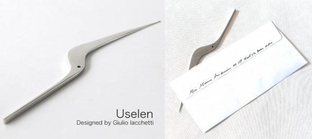 Alessi Uselen Letter Opener by Giulio Iacchetti