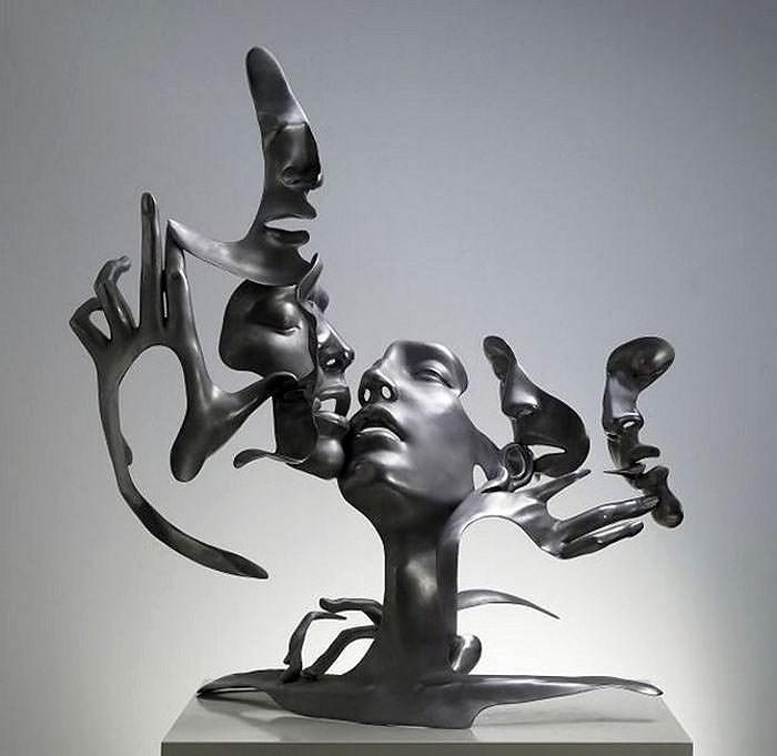 Dissolving Figurative Sculptures by UNMASK.