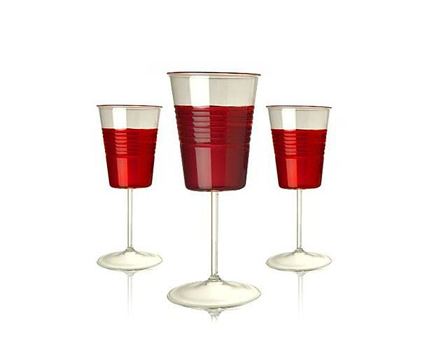 Sommelier Plastic Cup Wine Glasses by Maxim Velcovsky