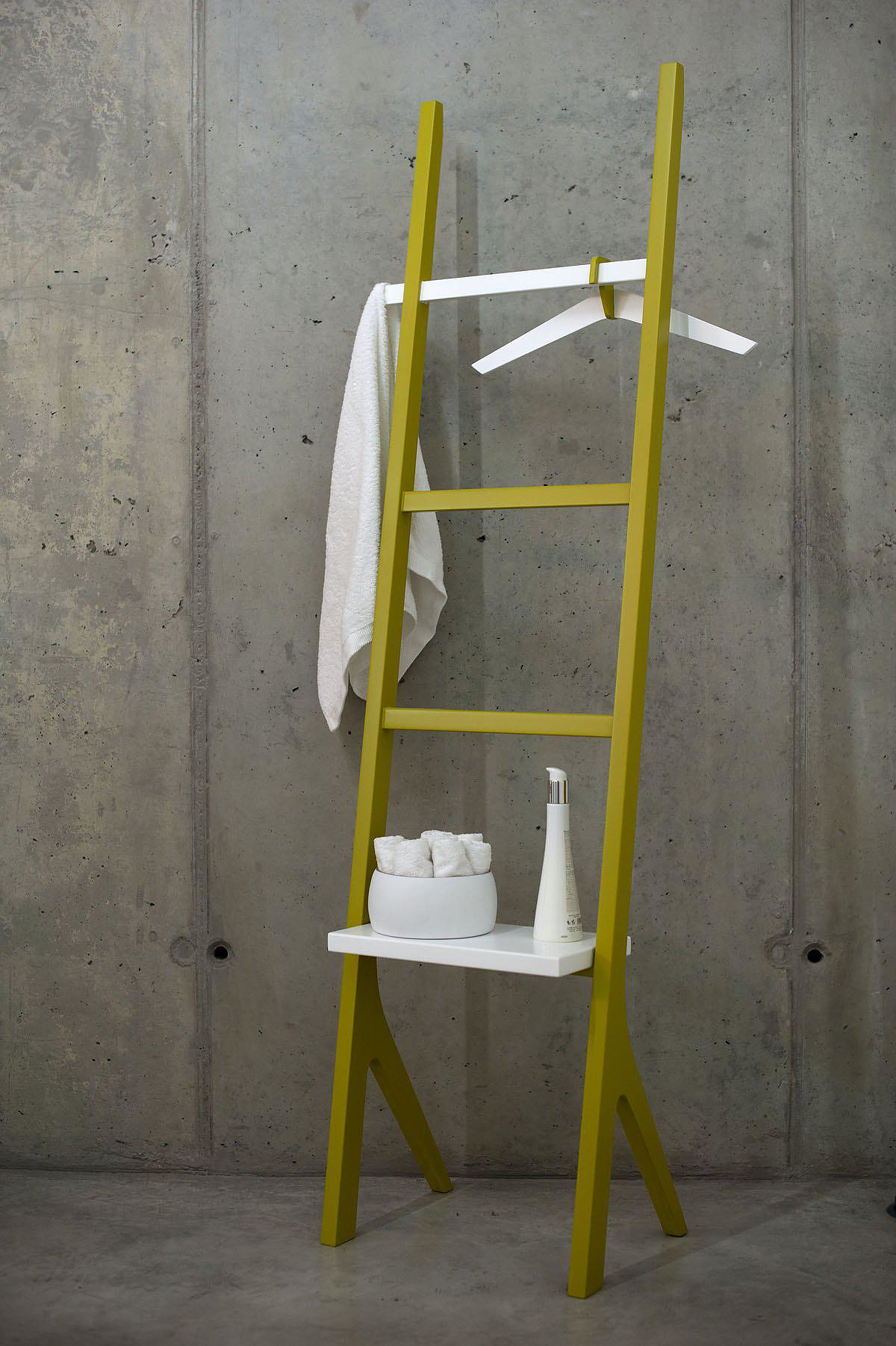 YPSY Shelving Unit by Two.Six, reinterpreting the role of a ladder.