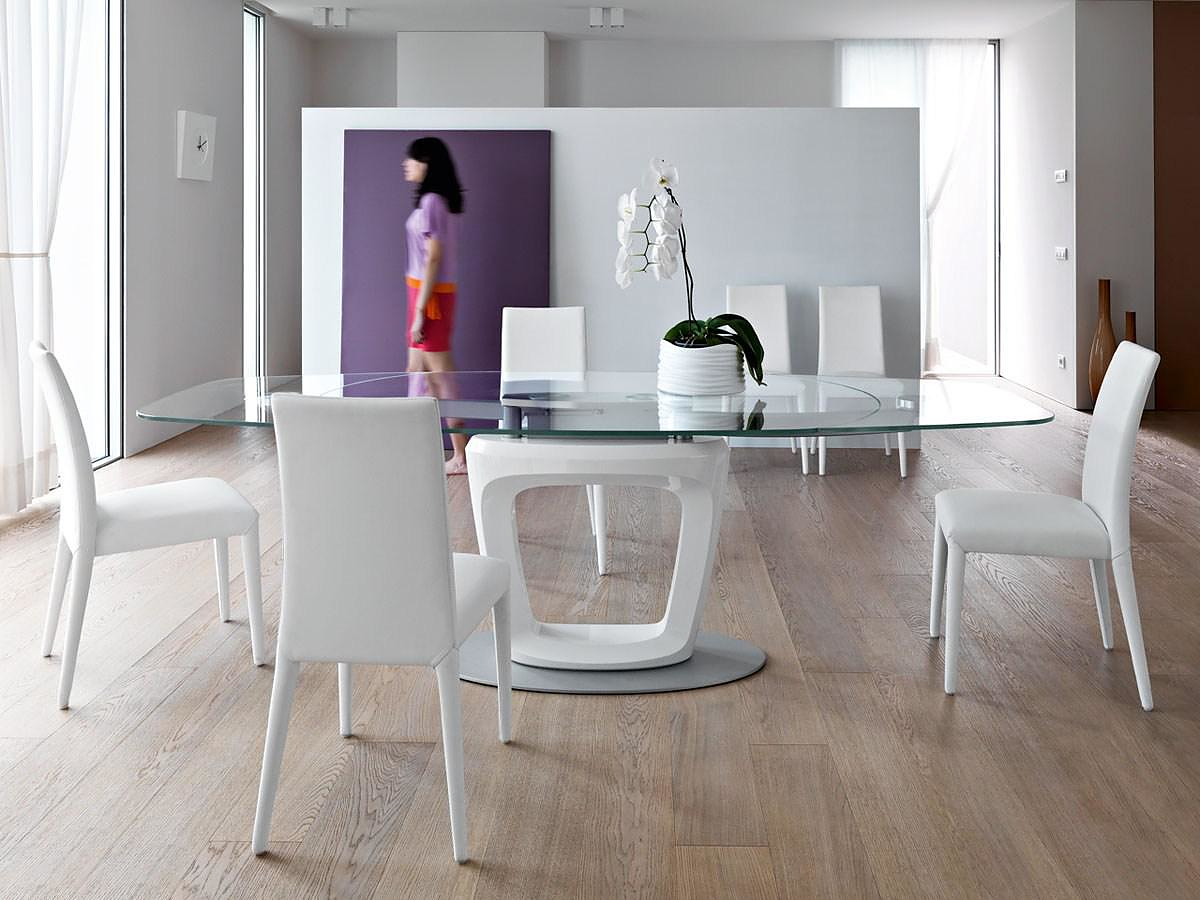 Calligaris orbital extending table by pininfarina for Calligaris sedie