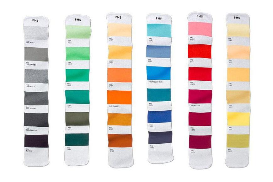 Μοντέρνα κασκόλ σε χρωματική κλίμακα pantone.