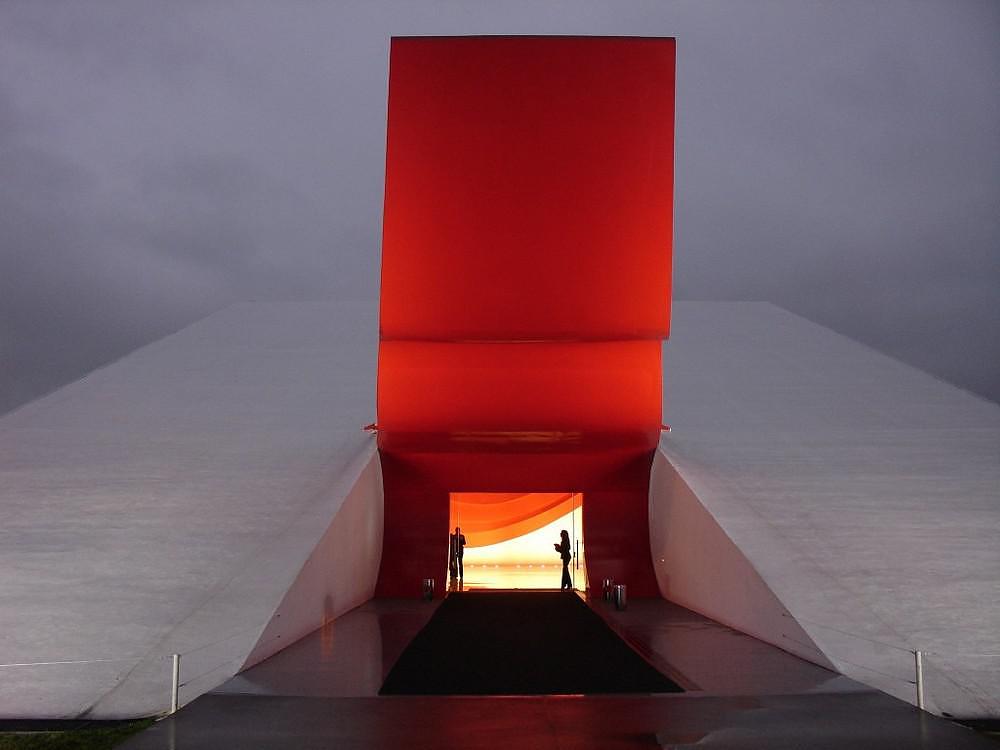 Ibirapuera Auditiorium by Oscar Niemeyer.