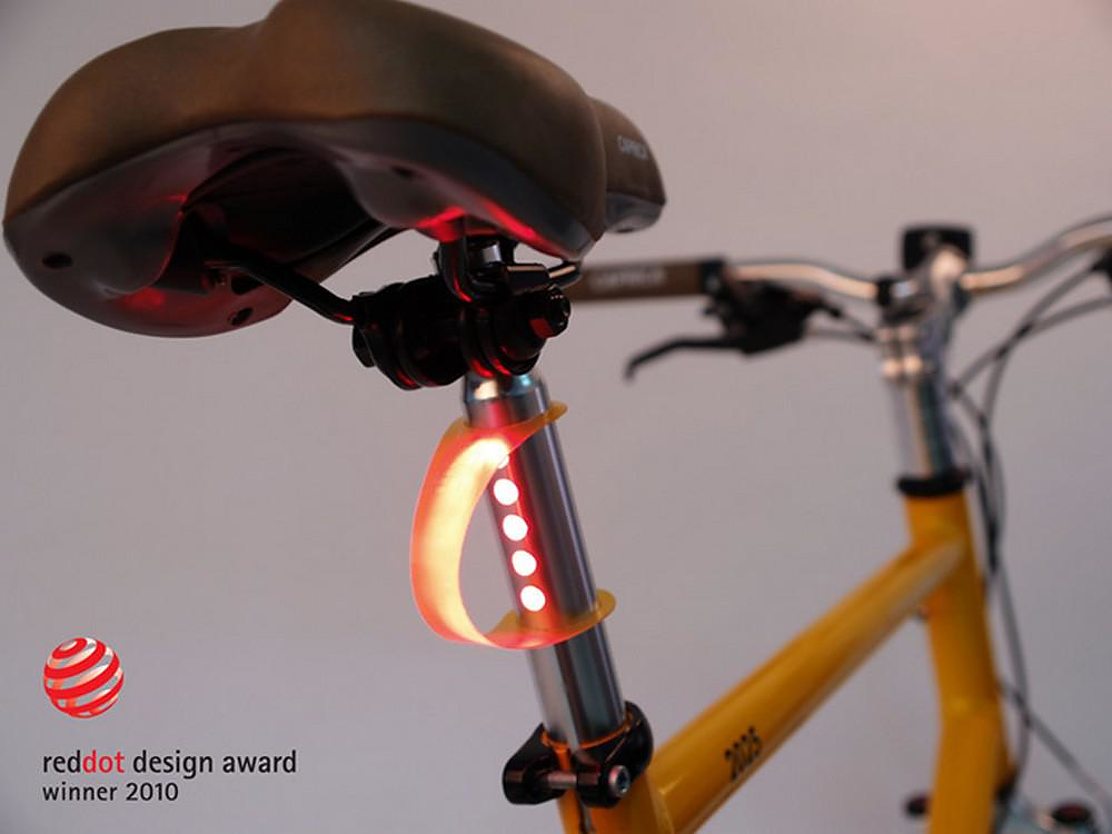 LightSKIN built-in Bicycle LED Tail Light.