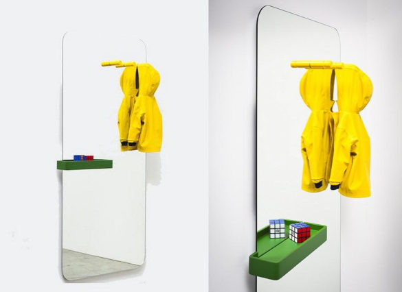 Miniforms Benvenuto Mirror by Paolo Cappelo