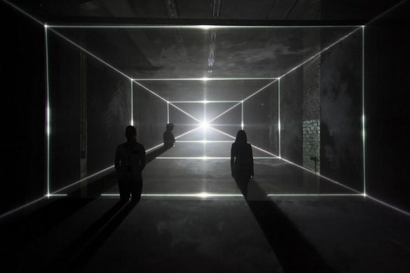 Vanishing Point - renaissance perspective drawing with lasers by United Visual Artists (UVA)