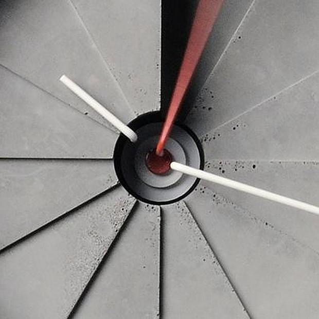 4th Dimension Concrete Clock by 22 Design Studio.