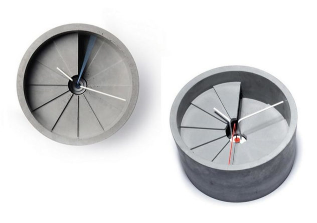 4th Dimension Concrete Clock by 22 Design Studio