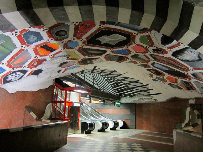 To Μετρό της Στοκχόλμης – Μία πελώρια έκθεση τέχνης.