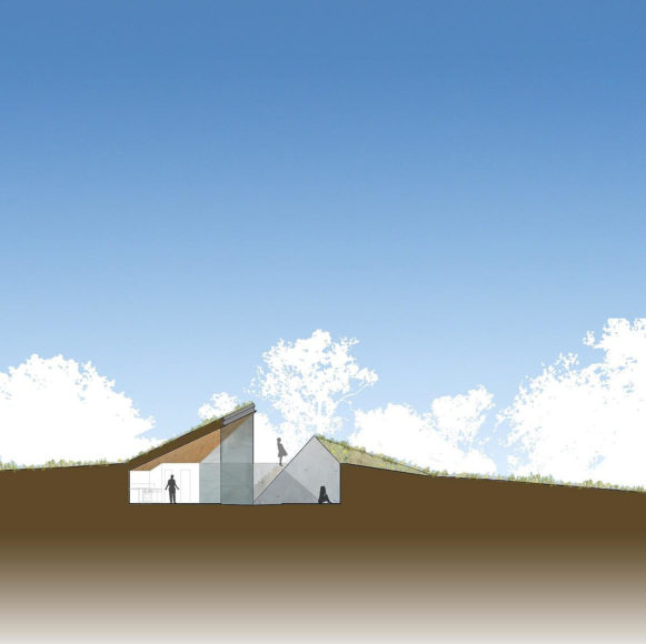 Folding the Edge: Edgeland House by Bercy Chen Studio.