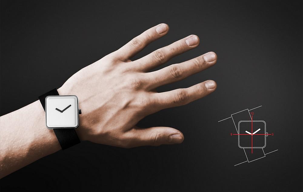 Slip a unique minimal watch by nonlinear studio design for Minimal art wrist watch